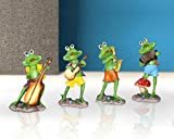 Best Outdoor Decor - Tied Ribbons Frogs Playing Musical Instruments Decoration Items Review