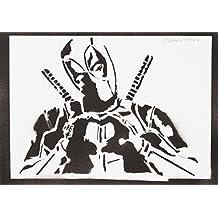 Deadpool Masacre Hecho A Mano - Handmade Street Art Poster