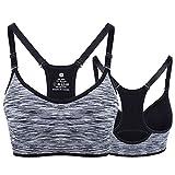 Lamdoo Sport-BH gefüttert Fitness Yoga Laufen Jogging, Schwarz , M