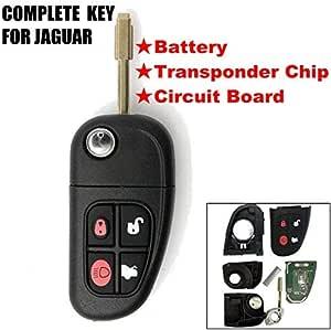 Katur 4 Tasten 433 Mhz Fernbedienung Schlüsselgehäuse Klappbar Ungeschliffener Schlüsselbart Autoschlüsselhülle Ersatzteil Mit 4d60 Chip Für Autos Auto