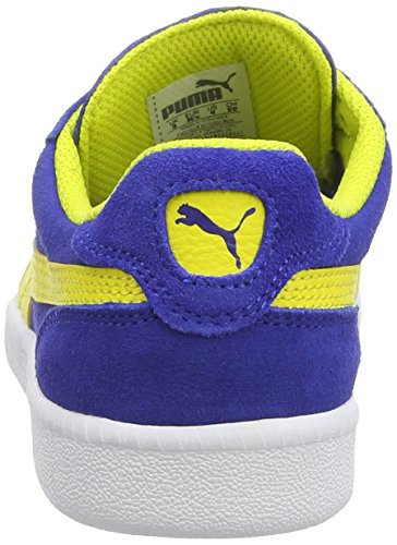 Puma Icra Trainer SD Jr, Sneakers basses mixte enfant Bleu - Blau (surf the web-blazing yellow 05)