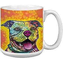 """Árbol de-free XM63212 20 oz de felicitación L-XL """"Mr, atractiva"""" con diseño de barco Dean Russo de perro polvos de cerámica taza de café"""