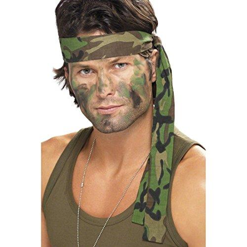 Kostüm Band Militär - Armee Stirnband Camouflage Haarband Tarnfarbe Militär Kopfbedeckung Kopfband Army Soldaten Tarnband Kostüm Zubehör