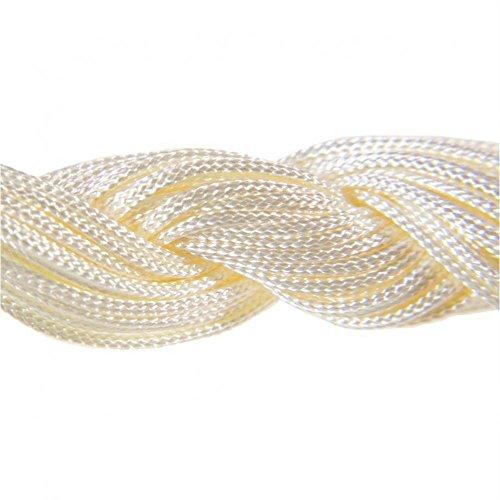 30Meter Nylonband Schmuckband 1mm für Armband tibetischen Shamballa Perlen Beige