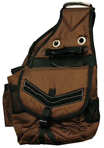 Amesbichler AMKA Satteltasche Packtasche für Pferde wattiert mit zusätzlich 4 seitlichen Taschen, braun Horse Saddle Gear Carrier Saddle Bag
