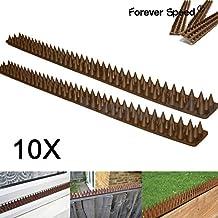 Forever Speed Scaccia Dissuasore Uccelli Spikes Dissuasori Anti Piccioni/Uccelli/Volatili 10/20pcs X spuntoni marrone 49 x 4,5 x 1,7 cm (L x B x H) (10 49 CM = 490 cm lunga; 20 49 CM = 980 cm lunga)