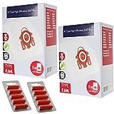 Spares2go 3D Type FJM Hyclean Sacs Miele Compact Complet C1 C2 Aspirateur (10 Sacs +...