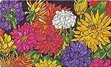 YISUMEI Fu?Matte Buntes Blumenmuster Eingangsmatte Bodenmatte Teppich Innen/Au?en/Haust¨¹r/Badezimmer Matten Rutschfest(40x60 cm)
