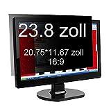 Xianan 23.8 zoll Widescreen 16:9 Displayfilter Bildschirmfilter Blickschutzfilter Blickschutzfolie Blickschutz