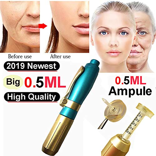 XHH Hyaluron Pen Injektion Stift Massage Zerstäuber Stift Kit Hoch Druck Acid Waffen Anti Falten Wasser Spritze Nadel Injektion Schönheit (Spritzen Waffen Wasser)