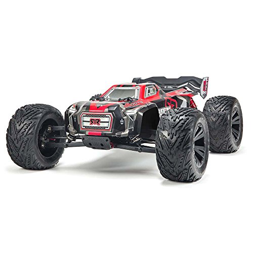ARRMA 1/8 KRATON 6S BLX 4WD Brushless Monster Truck RTR, Black/Red