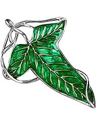 El Señor de los anillos hoja broche Elven con la collar Chain