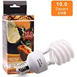 10.0 Lampadina UVB 26W 10% compatta e fluorescente per rettili migliorare la sintesi di D3 Alta uscita UVB per lucertola tartaruga 220-240V E27