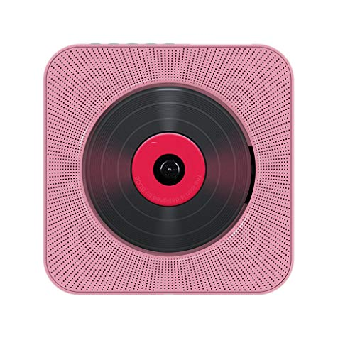 Lindahaot Bluetooth DVD VCD CD-Player-drahtloser HiFi Zugschalter Lautsprecher Wand befestigte Soundbox Fernbedienung Kit Rosa 16.8 * 3.6cm -