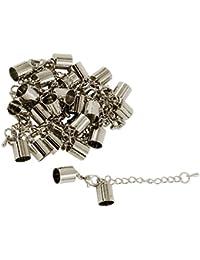 Sharplace 12 Stück DIY Schmuck Basteln Endkappe Endkappe Verschluss Halskette Extender Armband Verlängerung Kette Set Fü Schmuckherstellung