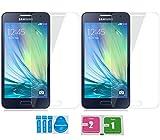 2x »Samsung Galaxy A3 (2015)« Panzerglas Displayschutzfolie | Blasenfrei | Ultra-HD | Bruchsicher | Rytek Panzerglasfolie ►lebenslange Garantie