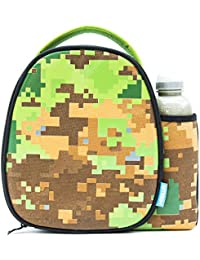 Smash Insulated Lunch Bag & 500ml Bottle, Fabric, Pixelated Camo, 8.5cm x 25.5cm x 25cm