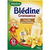 Blédina Blédine Croissance Vanille Gourmande à Partir de 12 Mois 500 g - Lot de 4