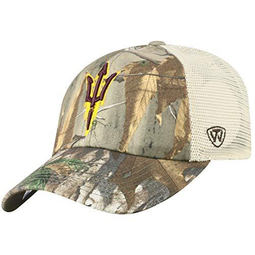 Top of the World NCAA Arizona State Sun Devils Men's Camo Stock Adjustable Mesh Icon Hat, Real Tree Devils Camo