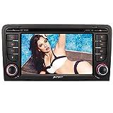Pumpkin Autoradio DVD Player für Audi A3 mit Navi 7 Zoll Bildschirm Unterstützt Bluetooth DVD USB Lenkradfernbedienung Radio MicroSD 2 Din