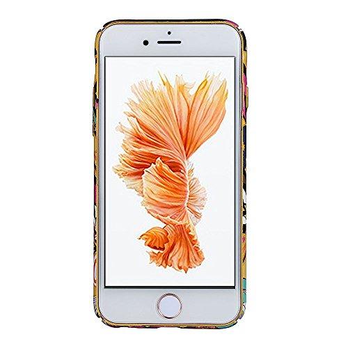 Back Cover per Apple iPhone 7Plus 5.5(NON iPhone 7 4.7), CLTPY Retrò Bellissimo Vento Nazionale Flower Dipinto Serie Case Ultra Fine Copertura di Hard PC Plastic Protezione per iPhone 7Plus + 1x Sti Fiore Colorato 2
