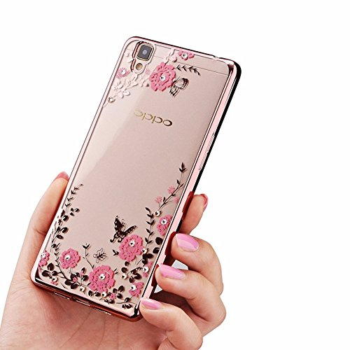 Oppo A37 Brand New Luxury hot Dustin Silicon Transparent Flower Back Case Cover