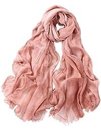 Prettystern - longue cheche soie écharpe 190 cm Tie-Dye lavés optique tissu  de couleur e22f2f6d573