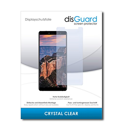 disGuard® Displayschutzfolie [Crystal Clear] kompatibel mit M-Horse Pure 1 [2 Stück] Kristallklar, Transparent, Unsichtbar, Extrem Kratzfest, Anti-Fingerabdruck - Panzerglas Folie, Schutzfolie