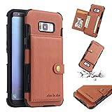 FLY HAWK Leder Hülle Handy Wallet mit Kartenfächer Lederhülle Wallet Case für Samsung Galaxy S8/S9 [Galaxy S8/S9 Plus] [Note 8/9] Schutzhülle Taschen [Premium PU] [Geldbörse]in vielen Farben