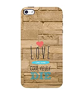 Ifasho Love Can Not Die Back Case Cover For Apple Iphone 4