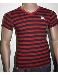 FC Augsburg FCA T-Shirt Damen Streifen Bundesliga Fan-Artikel Gr. S 29902