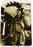 "TIN SIGN 12"" x 18"" Charles Lindbergh Spirit St. Louis Aviation Pilot Picture Photo Tinworld A924"