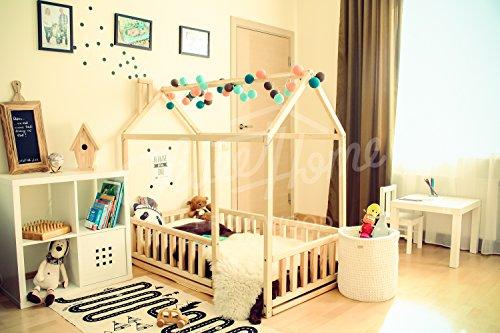 Sweet Home from Wood Cama de Madera Montessori de Madera de Pino...