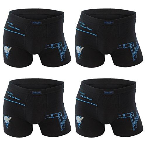 4er | 8er | 12er Pack Herren Retro Boxershorts REMIXX schwarz - exclusive von Lavazio® 4er Pack - Modell 098Ls