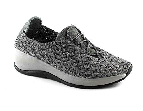 GRUNLAND TECA SC2717 38 peltro grigio scarpe donna elasticizzata slip on zeppa Grigio