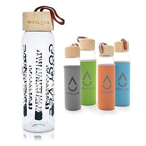 goglass Aspen 20oz Premium infrangibile vetro bottiglia d' acqua con caldo e freddo isolato. Migliori leakpoof di viaggio potabile bottiglia riutilizzabile su Amazon, Green