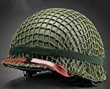 Replica WW2 US M1 Helm Steel Field Green Mit Net Cover Eye Belt Reproduktion