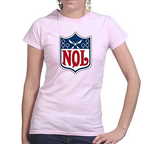National Quidditch League - Harry Magic Wizard Ladies T Shirt Large Pink