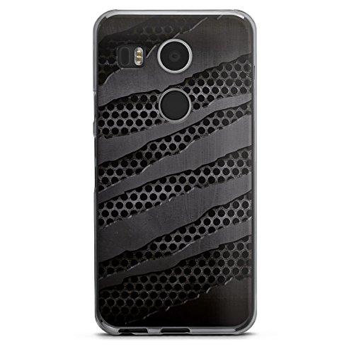 Google Nexus 5X Hülle Schutz Hard Case Cover Carbon Metall Look
