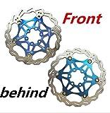 CarbonEnmy Fahrrad MTB DH Bremse Float Bremsscheiben Kettenblatt 180mm 6 (Blau)