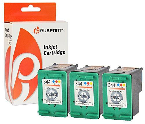 Bubprint 3 Druckerpatronen kompatibel für HP 344 HP344 für Deskjet 5740 6500 9800 Officejet 100 150 Mobile K7100 H470 Photosmart 335 8050 8450 Color -