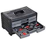 HOMCOM Werkzeugkoffer Werkzeugbox Werkzeugsatz 99-teilig universal Haushalt 40x27x23cm