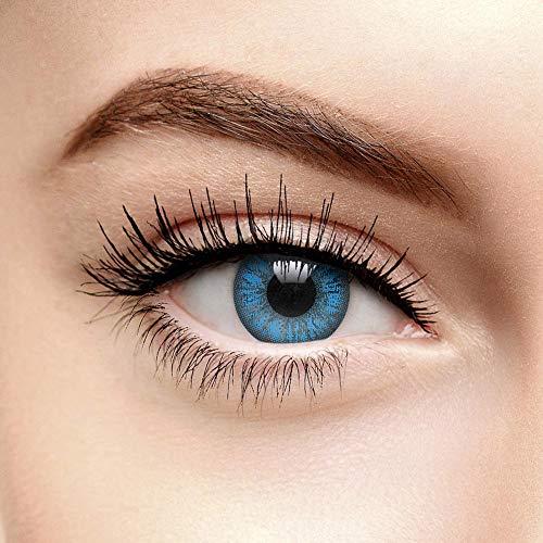 Chromaview Mystic 2 Ton Farbige Kontaktlinsen Ohne Stärke Aqua Blau (90 Tage)