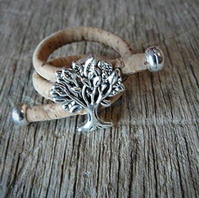 Bague arbre de vie en liège, bague originale, bague liège, bague arbre, bijou vegan, liège naturel, cadeau femme, liège
