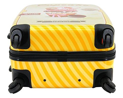 F|23, Hartschalen Trolley, Höhe: 60 cm, Mit Zahlenschloss, 4-Rollen-System, Sexy-Legs, Rot/Weiß, 77046-46 orange