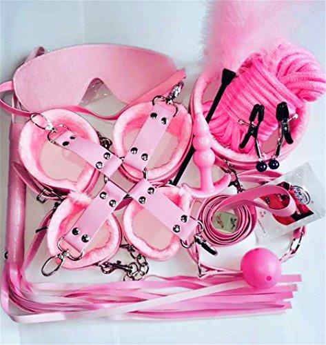 TGKHUS Spaß-Spielzeug-Justierbare Bett-Fessel-Übungs-Band-Blatt-Bügel 10 Sätze, Rosa