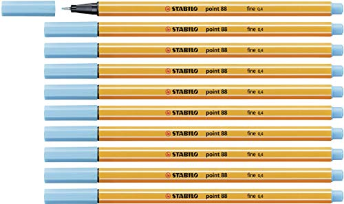 Fineliner - STABILO point 88 - 10er Pack - azurblau