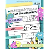 Matemáticas para Educación Infantil - La hora y el dinero, Sumas, Cuentas, Libro de actividades para niños, 4-6 años: Cuadern