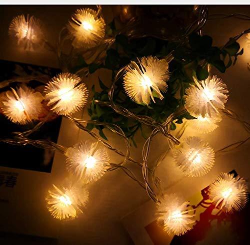 Solar Haar Badminton kreative LED Lichterkette USB Farbe Lichterketten im Freien Raumdekoration Lampe 6m A