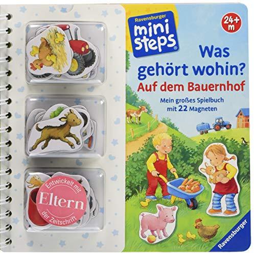 Was gehört wohin? Auf dem Bauernhof: Mein großes Spielbuch mit 22 Magneten. Ab 24 Monaten (ministeps Bücher) - Kinder Bücher Für Auf Cd